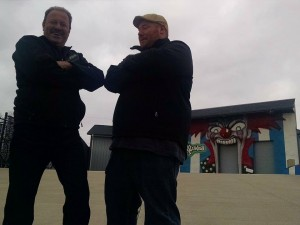 Backlot General Manager Brett Oakley (L) and Film Director Andy Palmer (R)