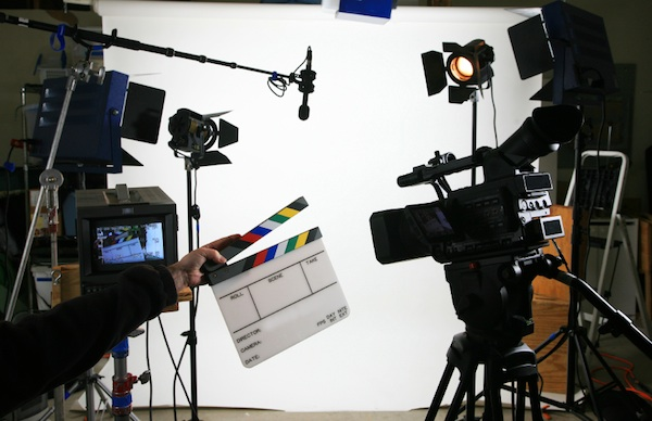 An image of a film production setting